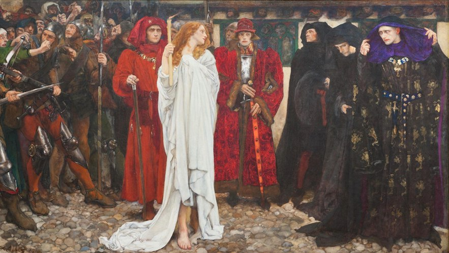 The Penance of Eleanor, Duchess of Glouster EDWIN AUSTIN ABBEY - Travel in the Middle Ages