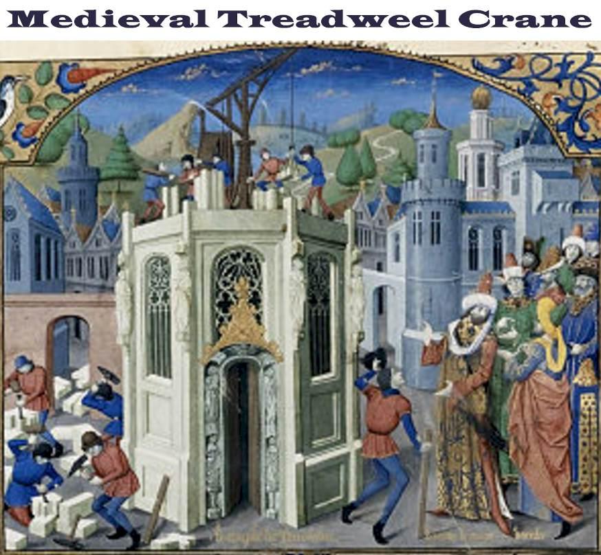 Medieval Crane in Germany - Treadwheel Cranes