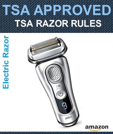 TSA Razors Rules 2021 - Electric Razors