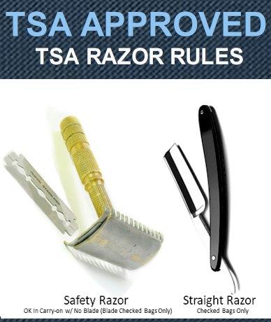 TSA Razors Rules 2021 - Safety & Straight