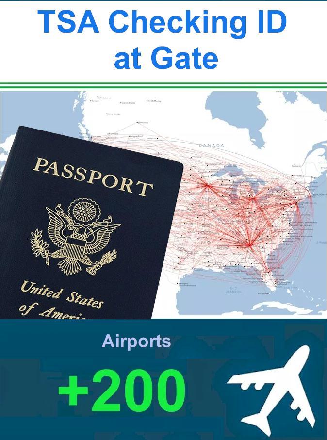TSA Checking ID at Gate 2021 - TSA ID requirements