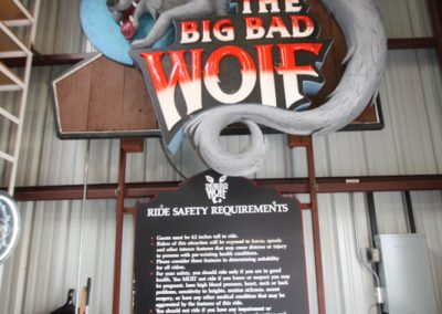 Artifacts Big Bad Wolf Sign