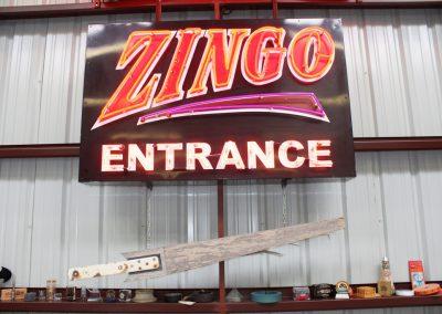 Artifacts Zingo Entrance Sign