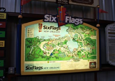 Artifacts Six Flag New Orleans Sign