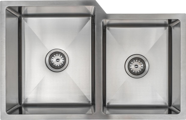 EVO 6040 Double Bowl small radius kitchen sink