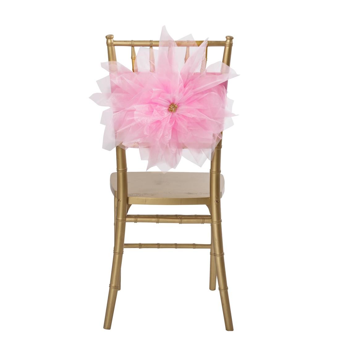 pastel pink flower sash