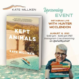 """I am so excited for this event!! Please join us — or watch it later so I don't get stupid nervous seeing your names pop up on the live. 😂 For those who don't know, some background: Hunter is a #bookstagram superstar, a wildly talented writer AND a visual artist, and he has been KEPT's bff since it first came out. He """"got"""" my book and he's been so supportive and done so much to help it reach readers. I consider him a true friend and I'm thrilled to take our conversation out of the DMs and into RL!!   5pm PST // 8pm EST on Friday but you can watch it on @shelfbyshelf anytime afterward.   Also, you must checkout his other author talks — they're fantastic, full of great tidbits on the writing life and totally joyful.   #keptanimals #virtualtour #iglive #iglivestream #bookclub #bookclubs #bookstagrammer #debutnovel #amwriting #paperback"""