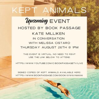 I'm looking forward to this Book Passage event SO MUCH! Please join me and author Melissa Cistaro to celebrate the paperback release of KEPT ANIMALS this Thursday at 1pm PST. Melissa and I have known one another since our days at the barn (and the 1993 fire season) that KEPT is based on. Our lives unexpectedly intersected almost twenty years later in a BP writing group; a narrative weave not unlike the structure of the novel! The second pic here is from the day I gave her an ARC, with the original cover.   This event will be virtual, with no RSVP required. I'll throw a link in my bio — just click to join. And, I believe, there will be a way for you to ask any of your burning questions! (Ha, ha, see what I did there — no, not that funny). 🔥💦