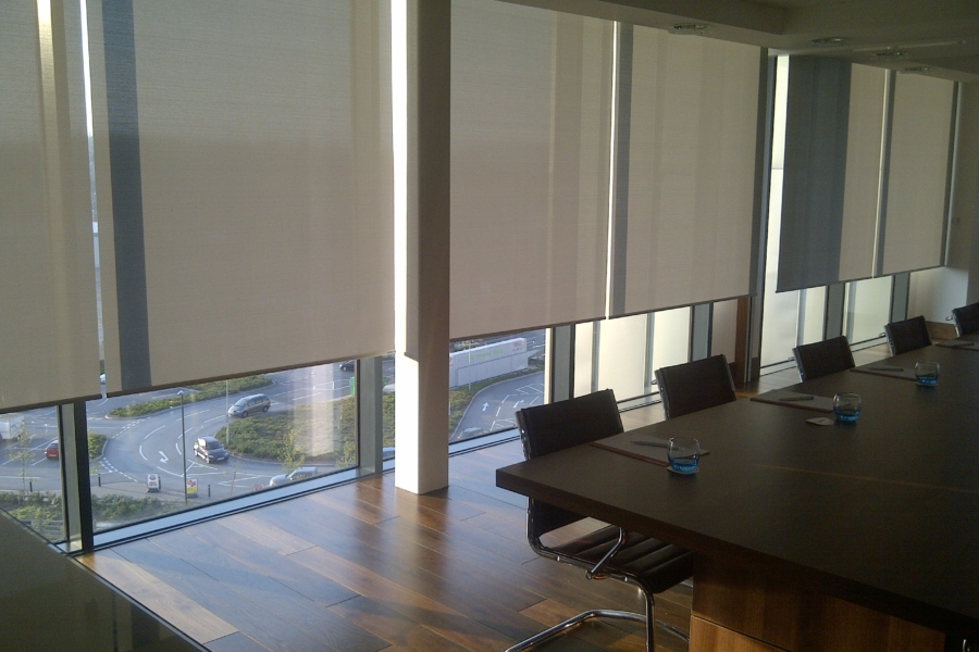 grey-roller-blinds-corporate-office
