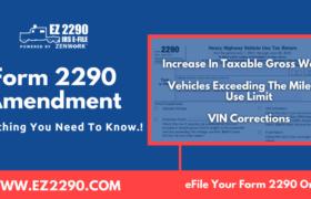 Form 2290 Amendment