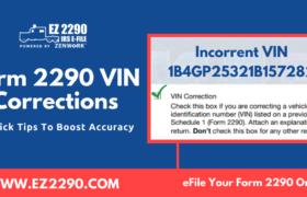 Form 2290 VIN Correction