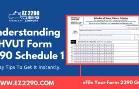 Understanding HVUT Form 2290 Schedule 1