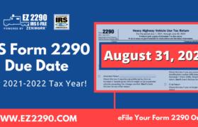 Form 2290 Due Dates & Deadlines