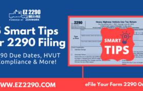5 Smart Tips For 2290 Filing