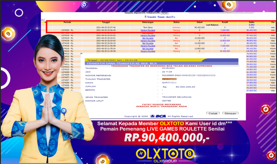 Bukti Pembayaran OLXTOTO dmax9