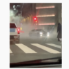 Philadelphians do donuts in their cars