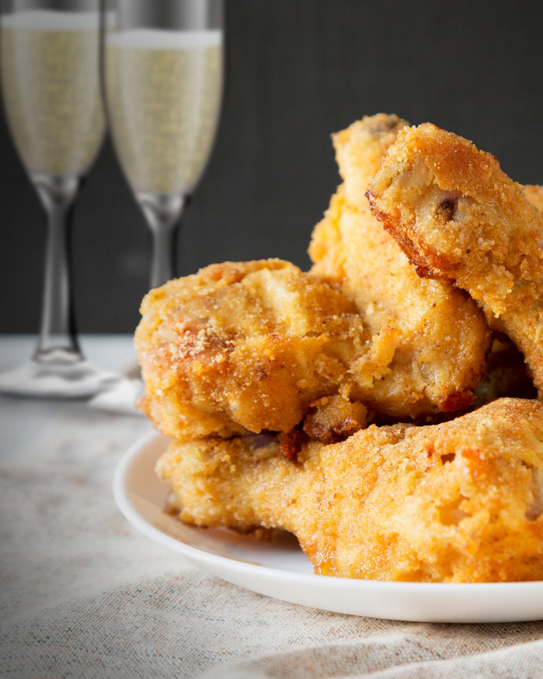bar poulet chicken and champagne