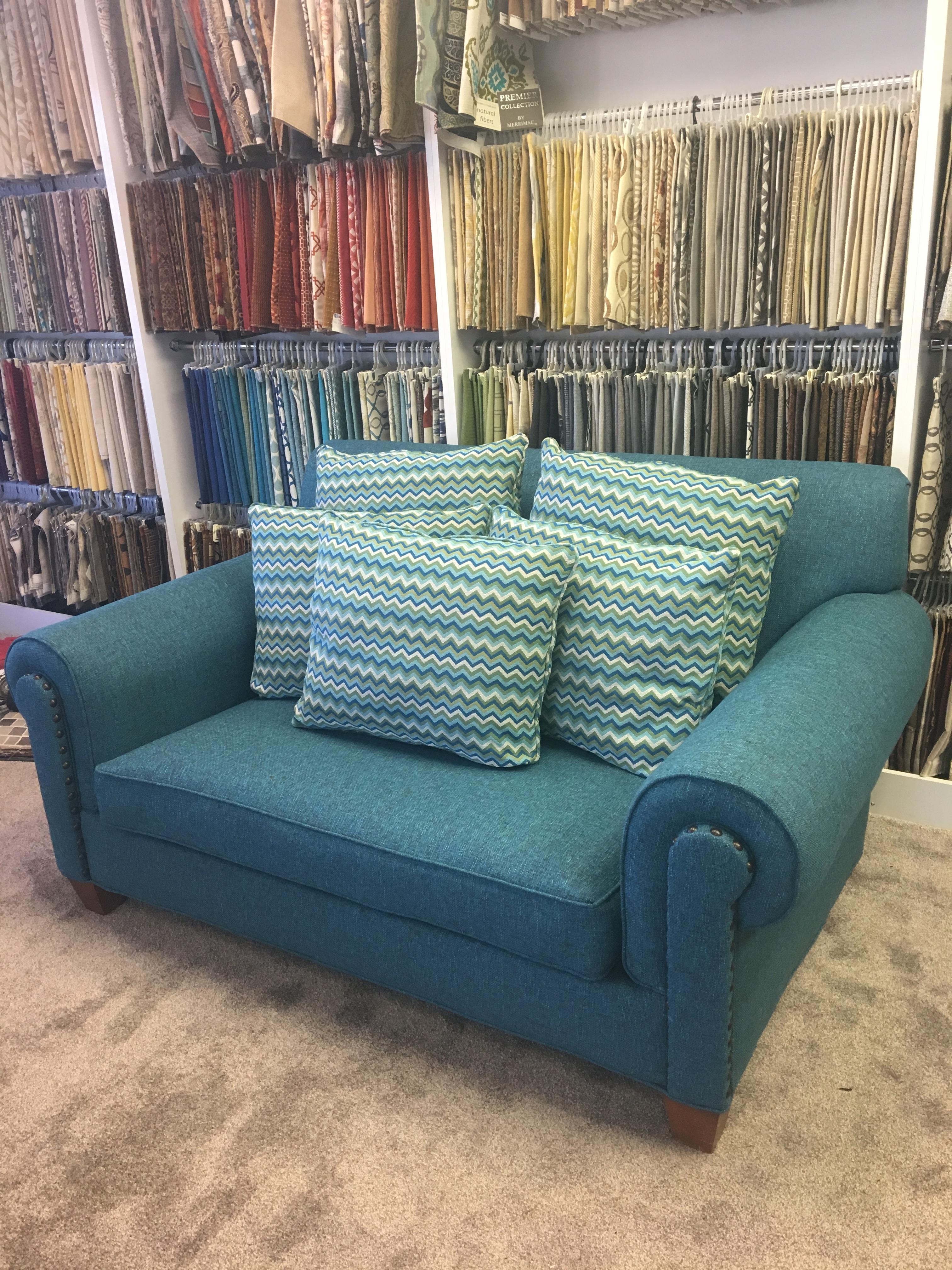 Custom upholstery loveseat.