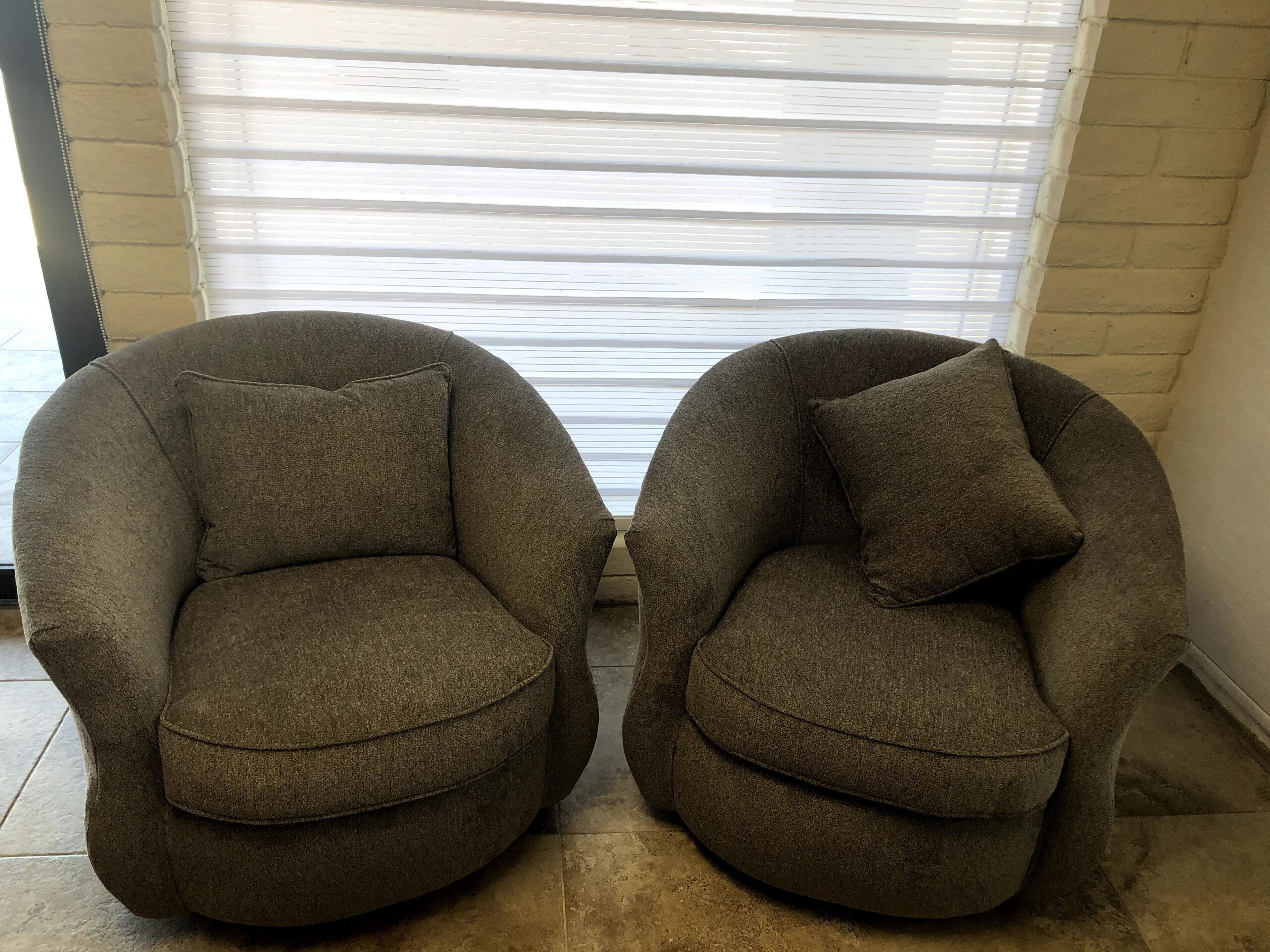 Grey Swivel Chairs $300.00