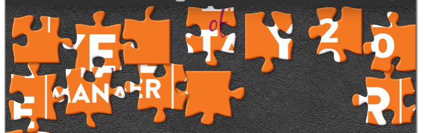Orange puzzle pieces