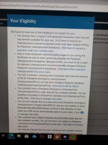 Eligibility error when applying for PUA because there is still an active UI claim