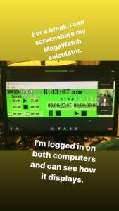 Screenshot of Megawatch Calculator stopwatch app