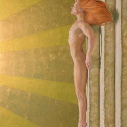 Catherine Lucas Egg Tempera painting of figure
