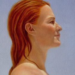 Catherine Lucas Oil Painting Detail of face