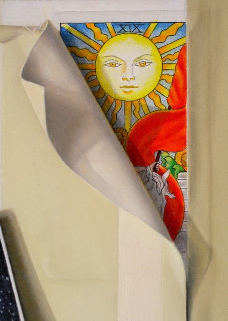Catherine Lucas oil painting detail of Trompe L' Oiel still life