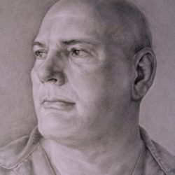 Catherine Lucas silver point portrait drawing