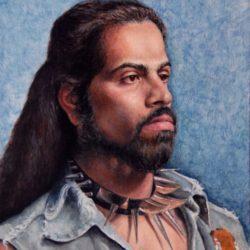 Catherine Lucas oil portrait painting of man