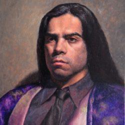Catherine Lucas oil painting of man's portrait