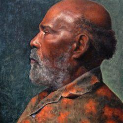 Catherine Lucas Oil portrait of man
