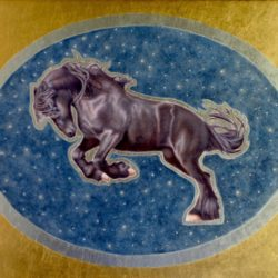Catherine Lucas Egg Tempera painting of horse