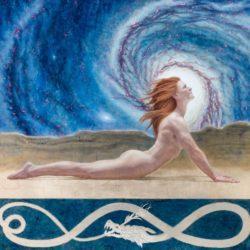 Catherine Lucas Egg Tempera figure painting detail