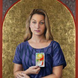 Catherine Lucas Oil Portrait of woman Full image
