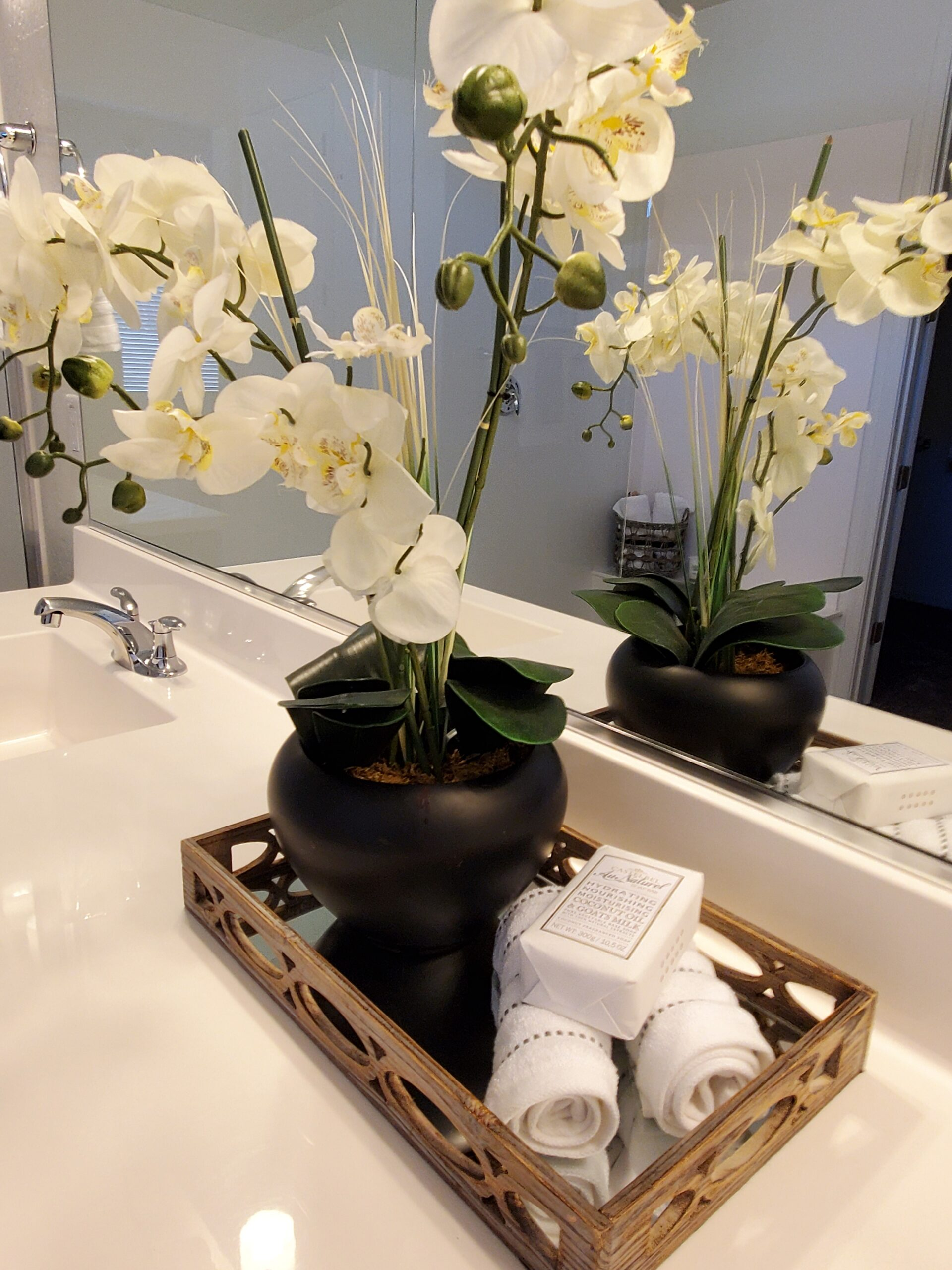 master bath orchid