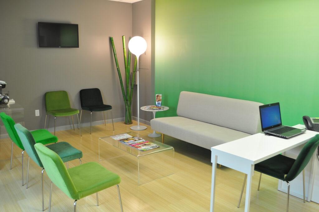Modern Dermatology waiting room 65 broadway suite 1100