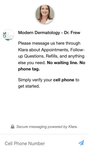 Klara Messenger Chat window
