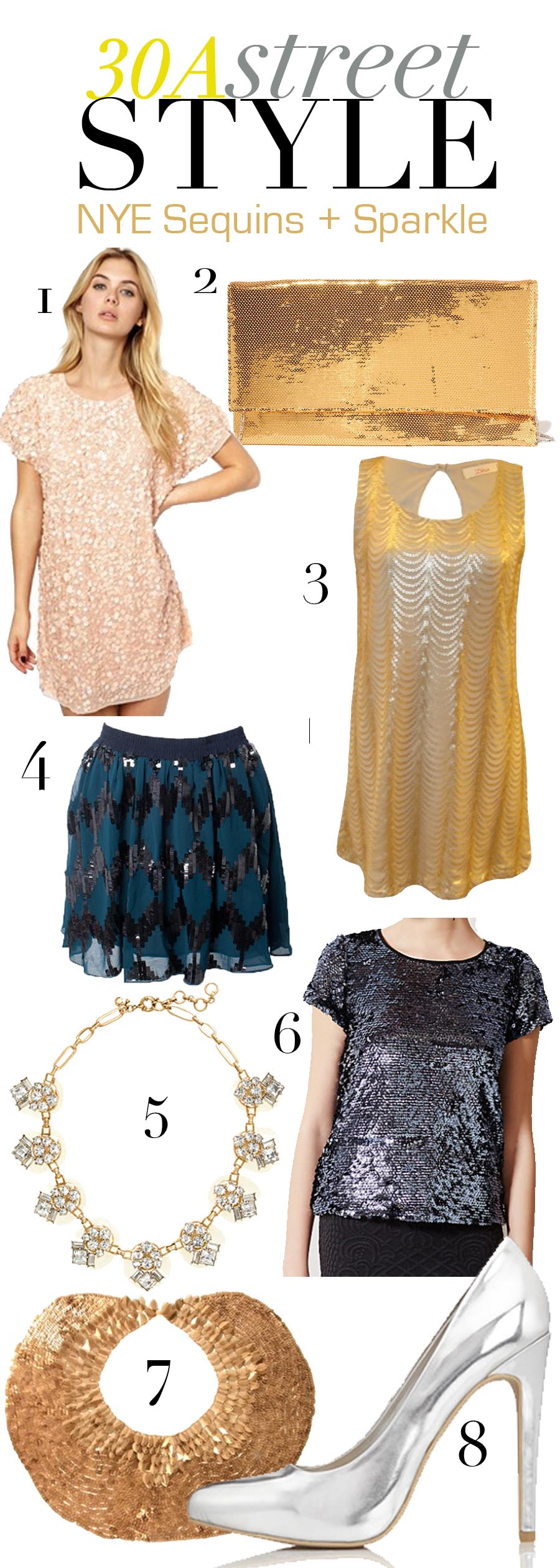 New Year's Eve Style Guide - Sequins Sparkle  |  30A Street Style