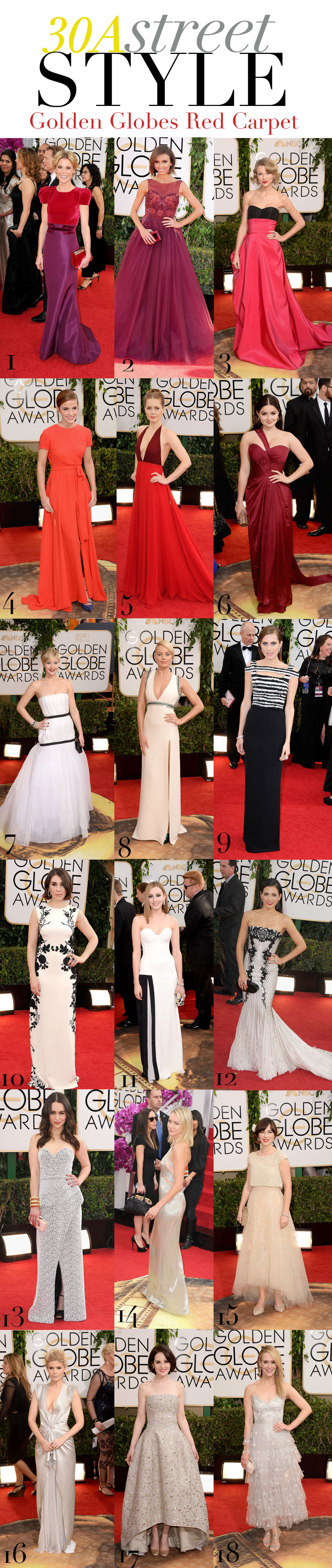 Red Carpet Recap - Golden Globes 2014