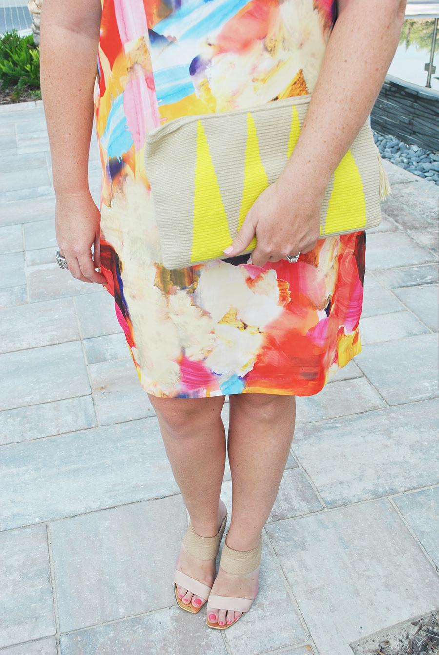 Paint Print Dress 30A Street Style 10