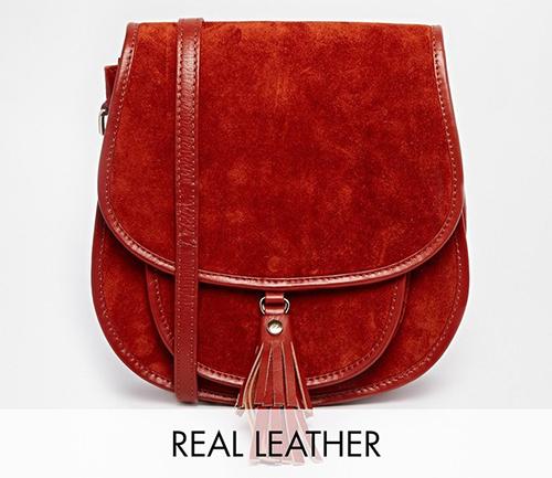 Asos Leather Saddle Bag