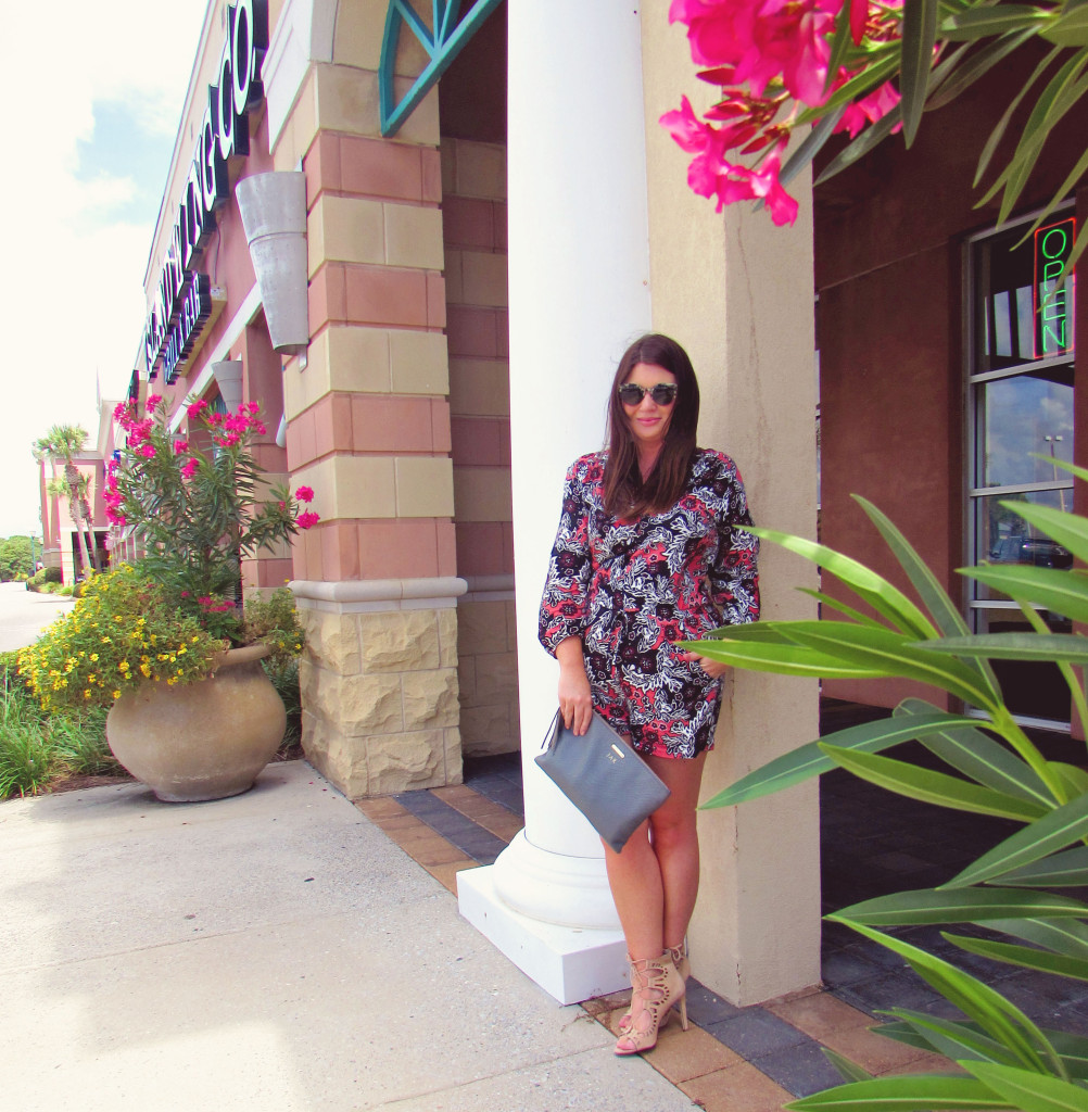 Fall Printed Romper 30A Street Style