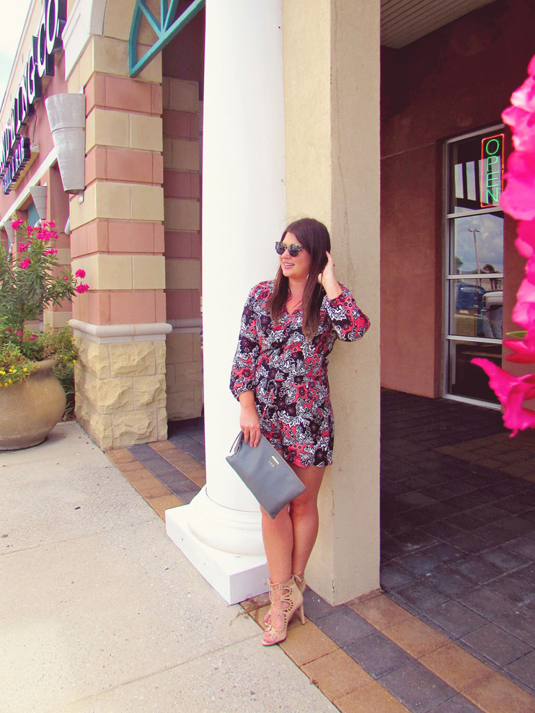 Fall Printed Romper 30A Street Style 2