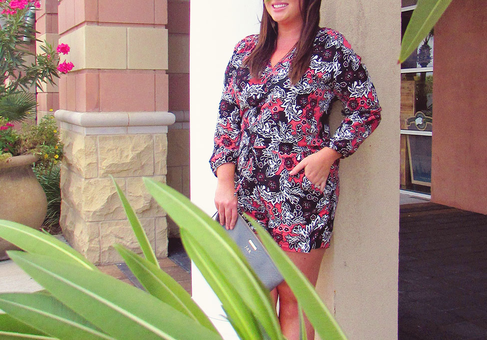 Fall Printed Romper 30A Street Style 3