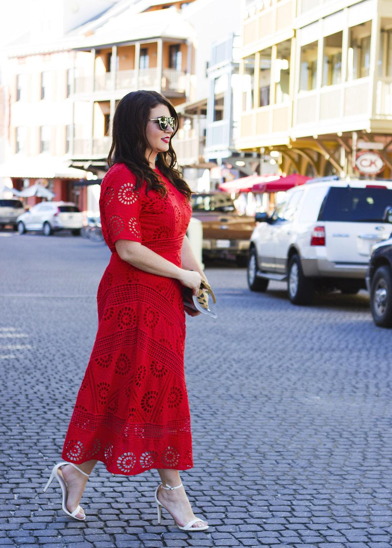 Red Midi Dress Rosemary Beach Jami Ray 30A 4_