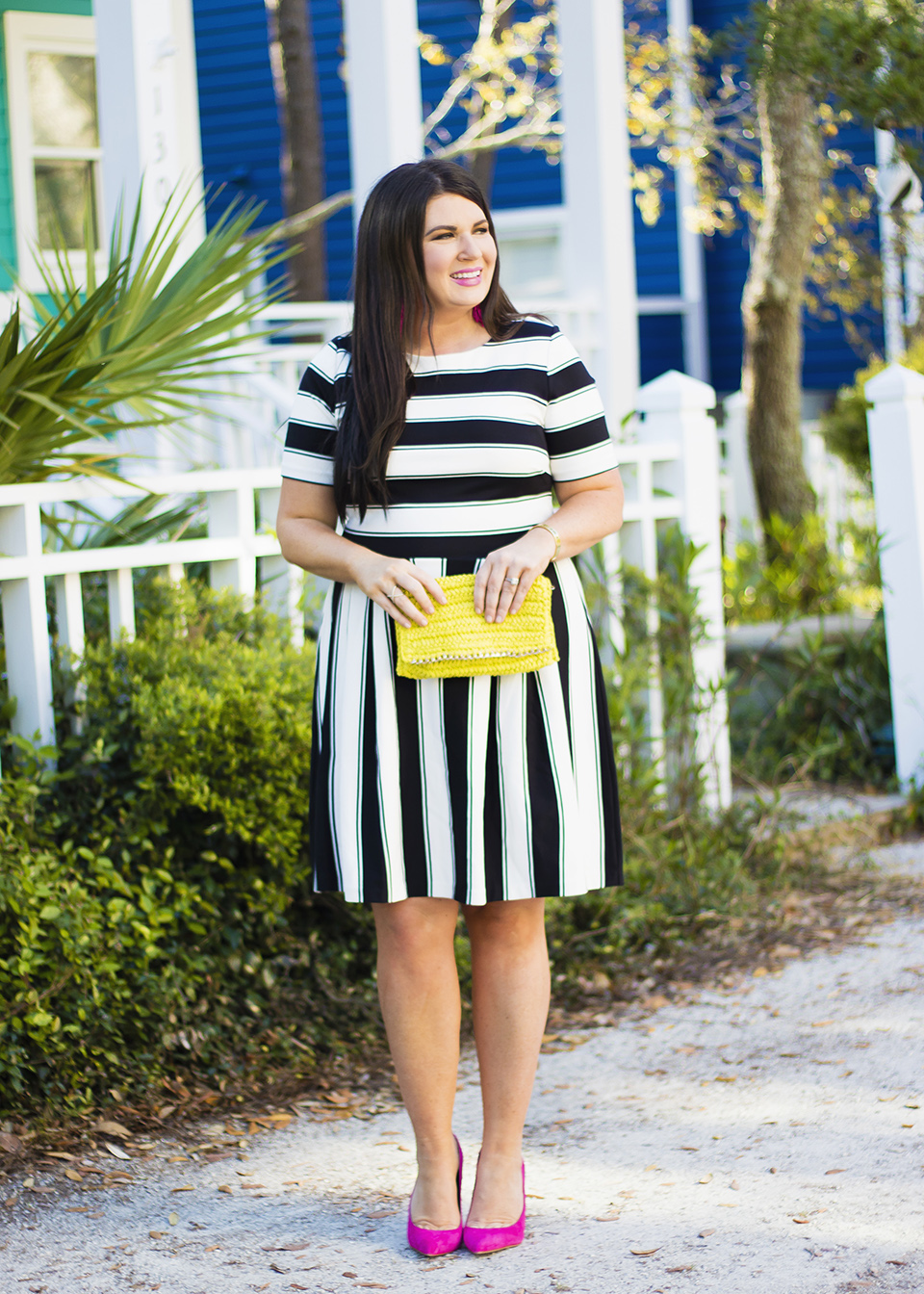BW Ladylike Stripes 30A Street Style 5
