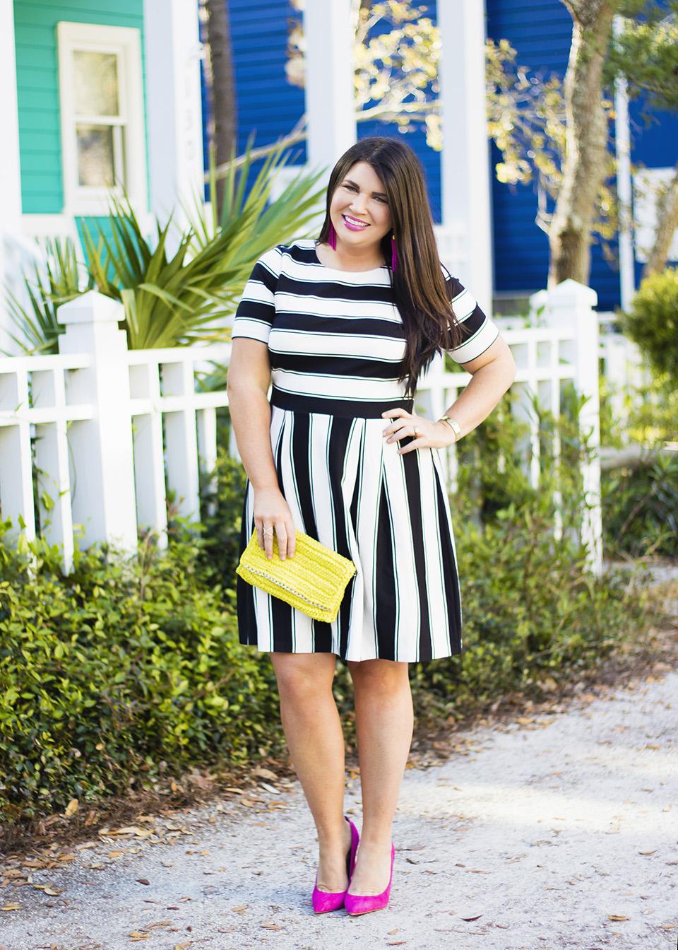 BW Ladylike Stripes 30A Street Style 6