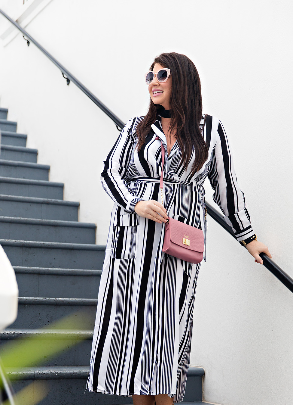 30A Street Style Jami Ray The Pearl Rosemary Beach Black and White Stripes 1